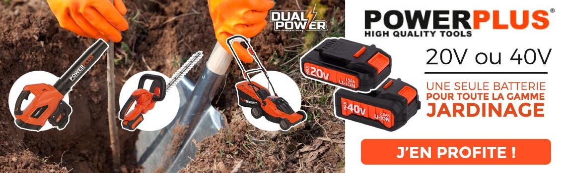 C'est 1 seule batterie 20v ou 40V pour tous vos outils de jardinage