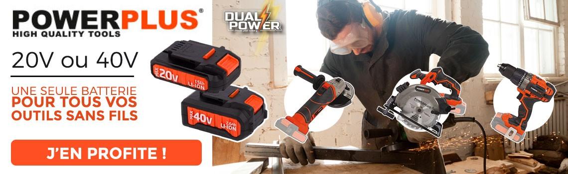 1 seule batterie pour tout vos équipements !